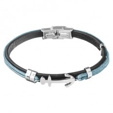 Lorenz Bracciale Uomo Light Blue/Anchor