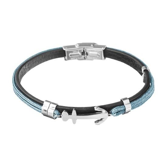 Lorenz Men's Bracelet Light Blue/Anchor
