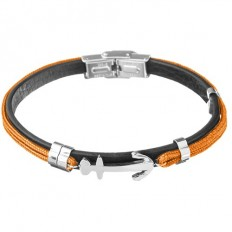 Lorenz Bracciale Uomo Orange/Anchor