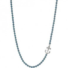 Lorenz Men's Necklace Anchor Blue