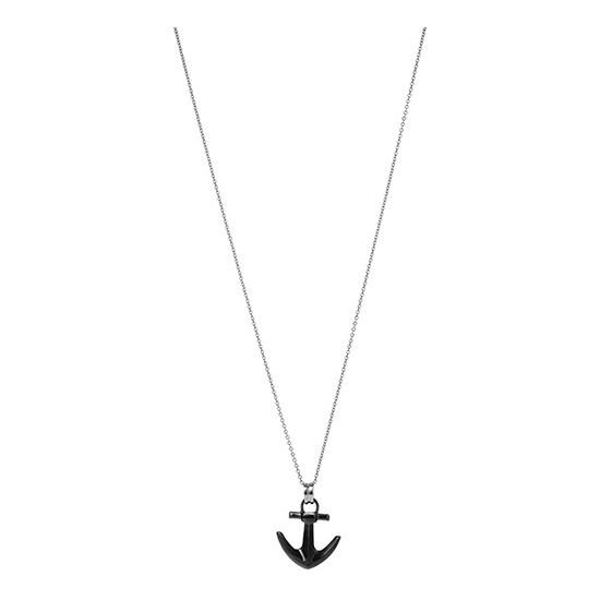 Lorenz Men's Necklace Anchor Black