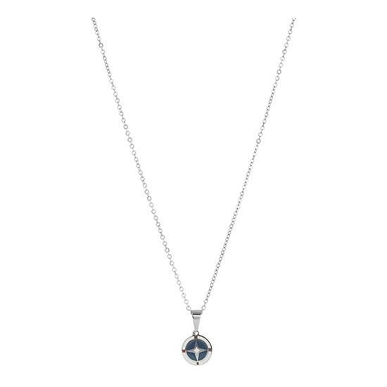 Lorenz Men's Necklace Wind Rose Blue