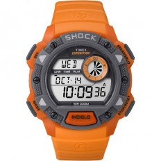 Timex Men's Digital Watch Base Shock Collection Orange