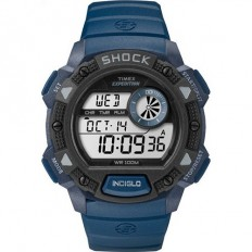Timex Men's Digital Watch Base Shock Collection Blue