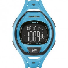 Timex Iroman Digital Watch Sleek 50 Collection Light Blue
