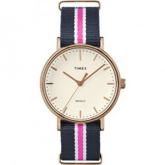 Timex Women'sWatch Only Time Weekender Collection Blue/Pink
