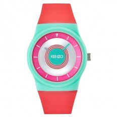 Kenzo Watch Woman Only Time Green Water/Pink