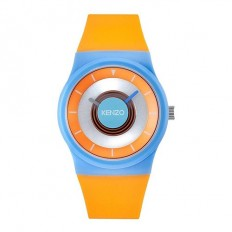 Kenzo Watch Woman Only Time Light Blue/Orange