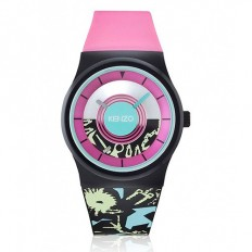 Kenzo Watch Woman Only Time Fantasy Black/Pink