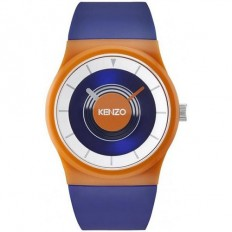 Kenzo Watch Unisex Only Time Orange/Blue