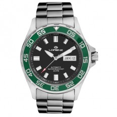 Lorenz Automatic Men's Watch Black/Green 200mt