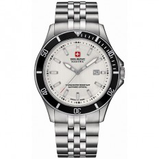 Swiss Military Hanowa Men's Watch Only Time Flagship Silver