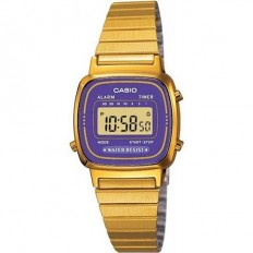 Casio Women's Digital Watch Vintage Purple