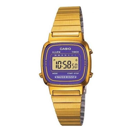 Casio Women's Digital Watch Vintage Purple