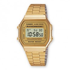 Casio Digital Watch Unisex Vintage Golden