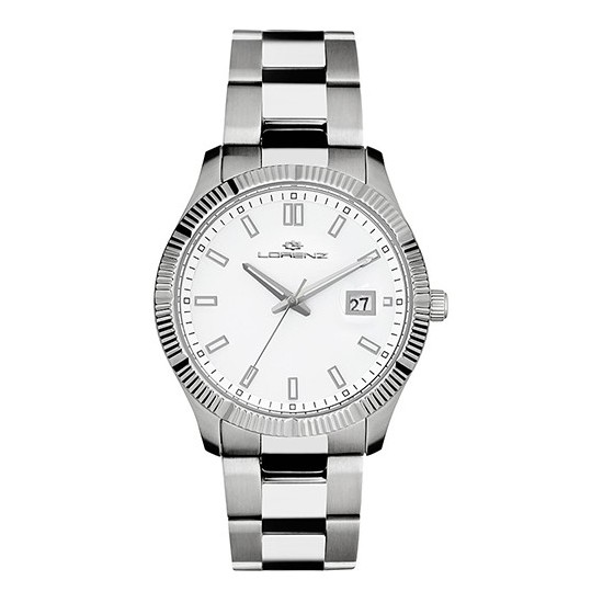 Lorenz Men's Watch Only Time Ginevra Collection White