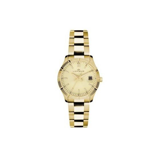 Lorenz Women's Watch Only Time Ginevra Collection Gold/Gold