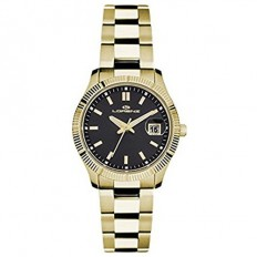 Lorenz Women's Watch Only Time Ginevra Collection Gold/Black