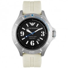 Armani Men's Watch Only Time White