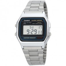 Casio Unisex Digital Watch Vintage Silver