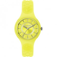 Versus Versace Women's Watch Only Time Fire Island Collection Yellow