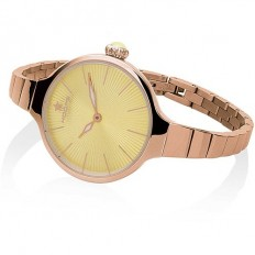 Hoops Women's Watch Only Time Nouveau Cherie Collection Rose