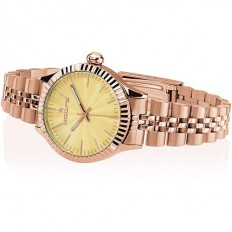 Hoops Women's Watch Only Time Luxury Collection Rose/Yellow