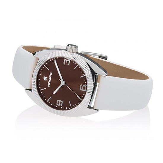 Hoops Women's Watch Only Time Nouveau Liberty Collection White/Brown
