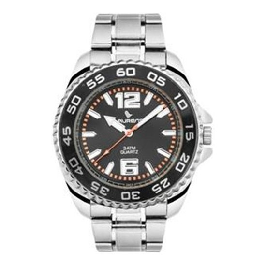 Laurens Watch Men Only Time Silver/Black