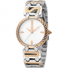 Just Cavalli Women's Watch Only Time Logo Collection Rose/Silver