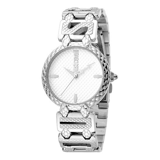 9ac59ebffb Just Cavalli Women's Watch Only Time Logo Collection Silver