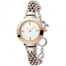 Just Cavalli Women's Watch Only Time Animals Collection Rose/Silver