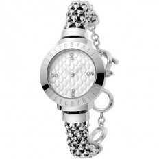 Just Cavalli Women's Watch Only Time Animals Collection Silver