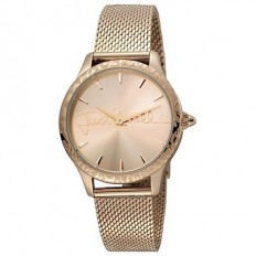 Just Cavalli Women's Watch Only Time Logo Collection Gold Milanese