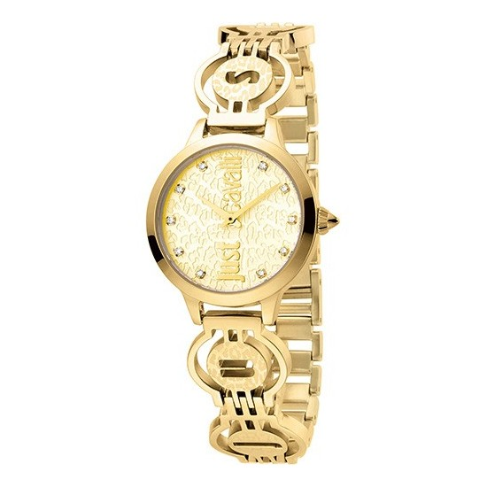 Just Cavalli Women's Watch Only Time Logo Collection Crystals