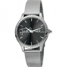 Just Cavalli Women's Watch Only Time Logo Collection Silver/Black