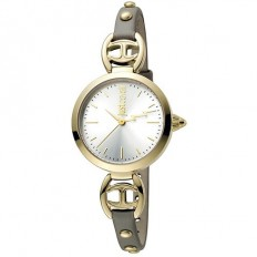 Just Cavalli Women's Watch Only Time Logo Collection Grigio Chiaro