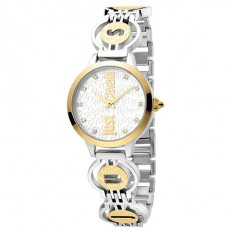 Just Cavalli Women's Watch Only Time Logo Collection Gold/Silver Crystals