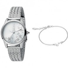 Just Cavalli Women's Watch Only Time Relaxed Collection Silver/Star