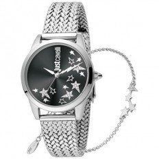 Just Cavalli Women's Watch Only Time Relaxed Collection Silver/Star Black