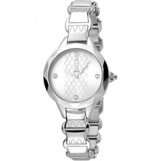 Just Cavalli Women's Watch Only Time Rock Collection Silver