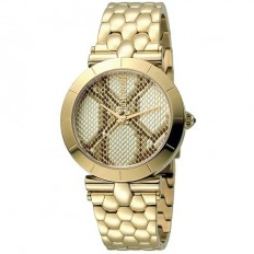 Just Cavalli Women's Watch Only Time Animals Collection Gold