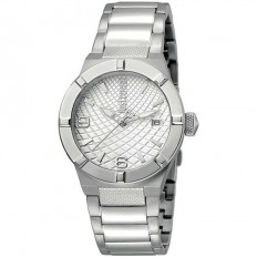 Just Cavalli Women's Watch Only Time Rock Collection Silver/Silver