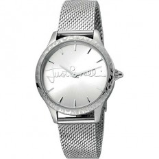 Just Cavalli Women's Watch Only Time Logo Collection Silver/Silver