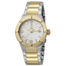 Just Cavalli Women's Watch Only Time Rock Collection Silver/Gold