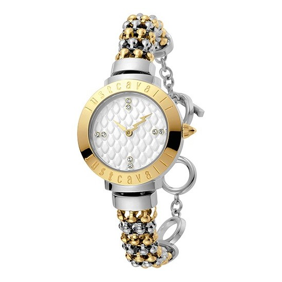 Just Cavalli Women s Watch Only Time Animals Collection Rose Silver 836c0c7d92