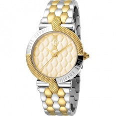Just Cavalli Women's Watch Only Time Animals Collection Gold/Silver