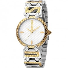 Just Cavalli Women's Watch Only Time Logo Collection Gold/Silver