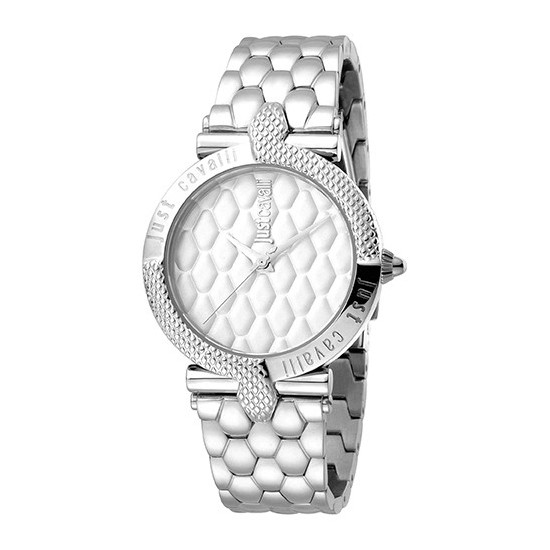 172d122d0bc8c Just Cavalli Women's Watch Only Time Animals Collection Silver/Silver
