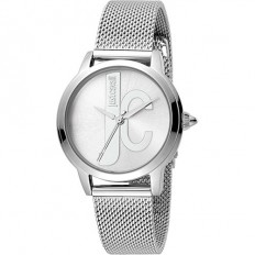 Just Cavalli Women's Watch Only Time Logo Collection Silver/Silver M